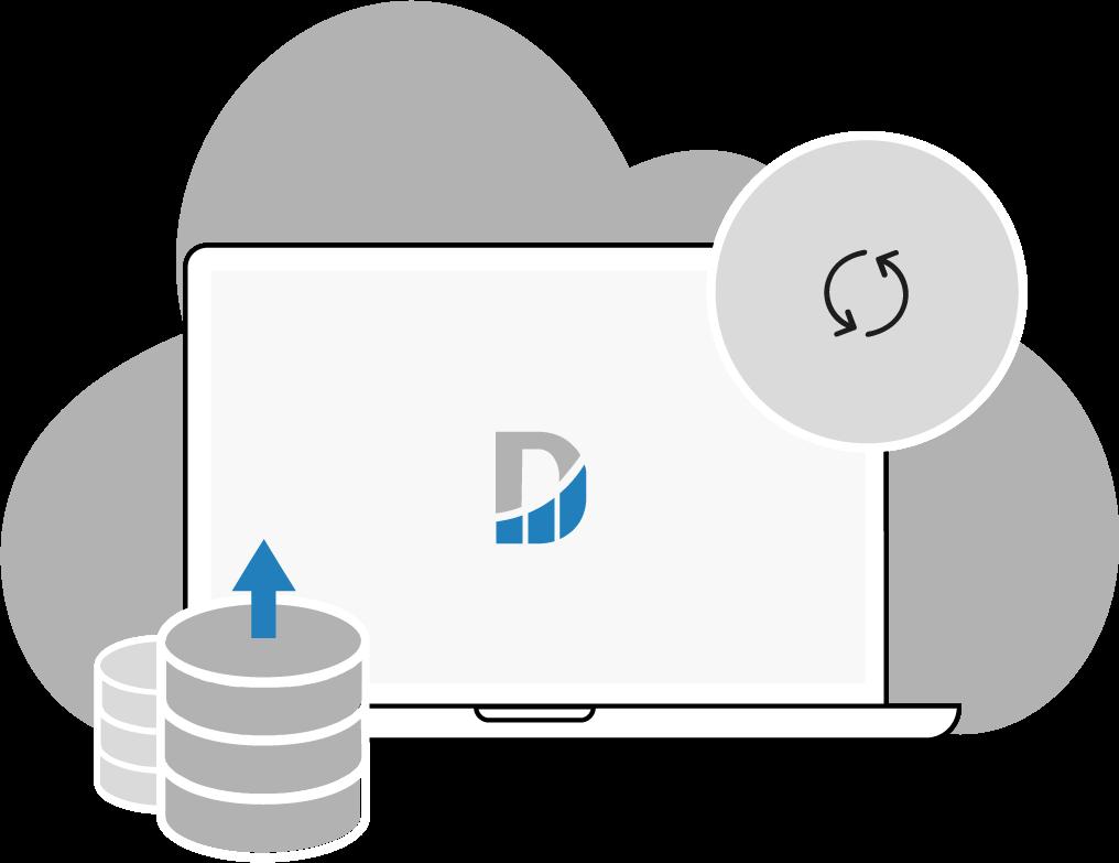 illustration intégration des données sources